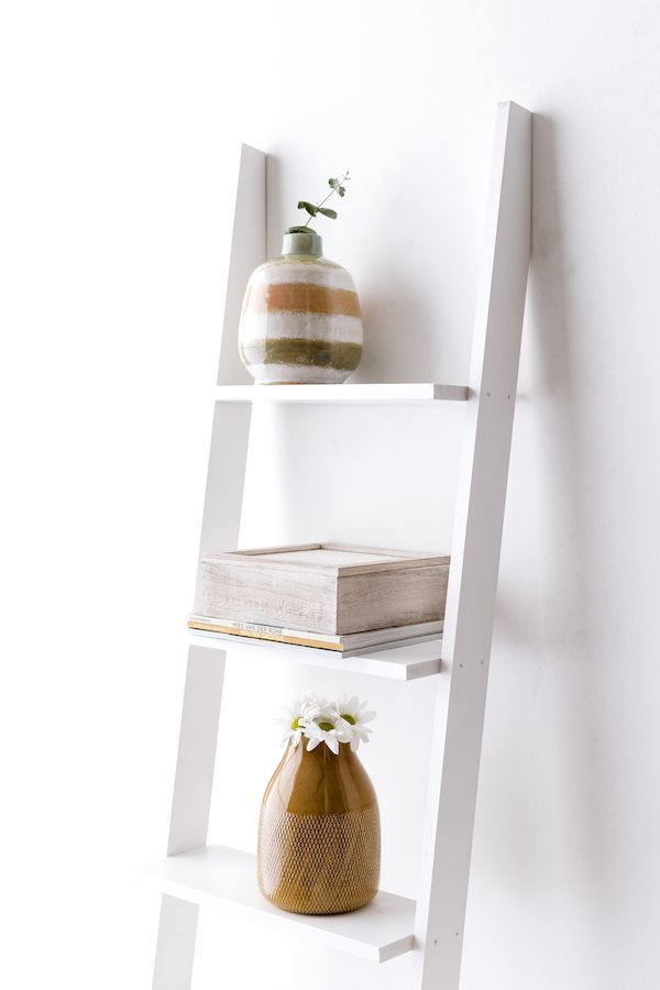Nussa escada estante branca