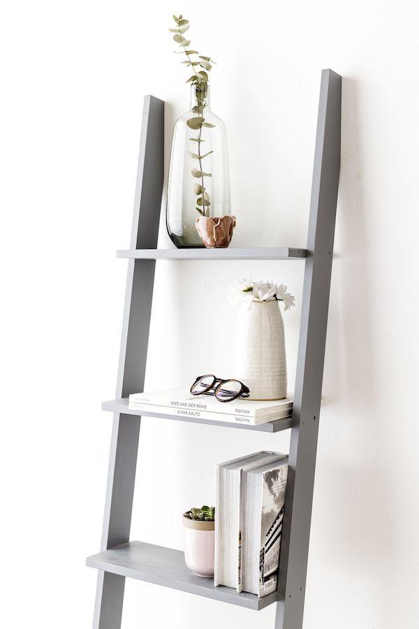 Nussa escalera estantería gris