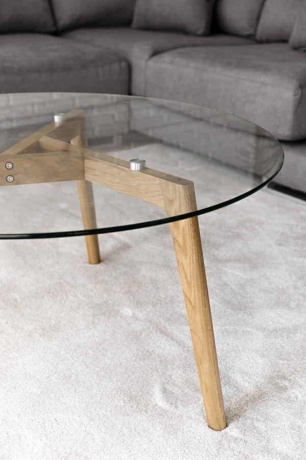 Skan mesa de centro de vidro