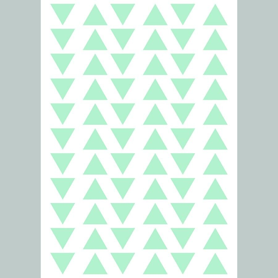 Triangles vinilo menta