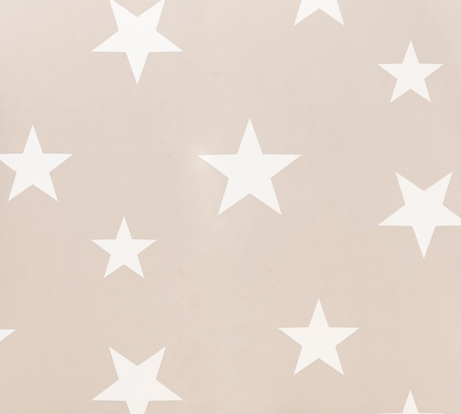 Stars wallpaper beige/blanco