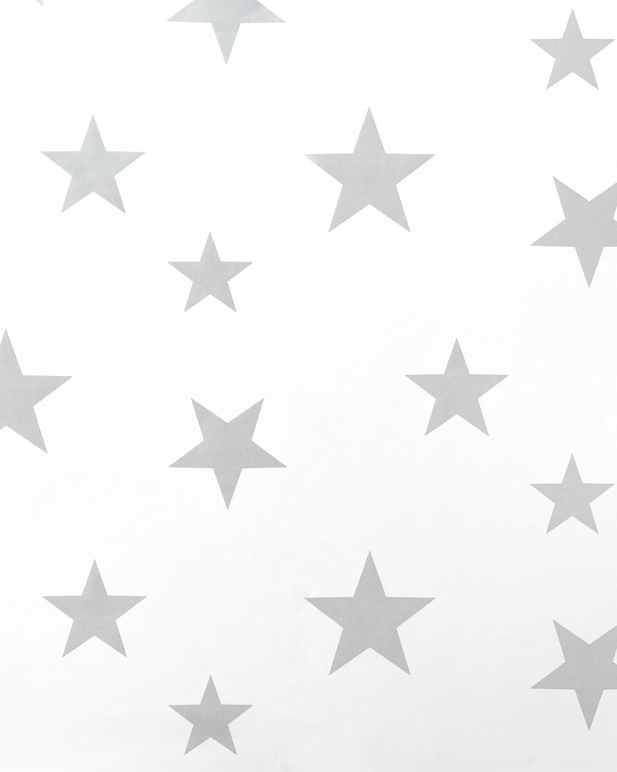 Stars wallpaper gris/blanco