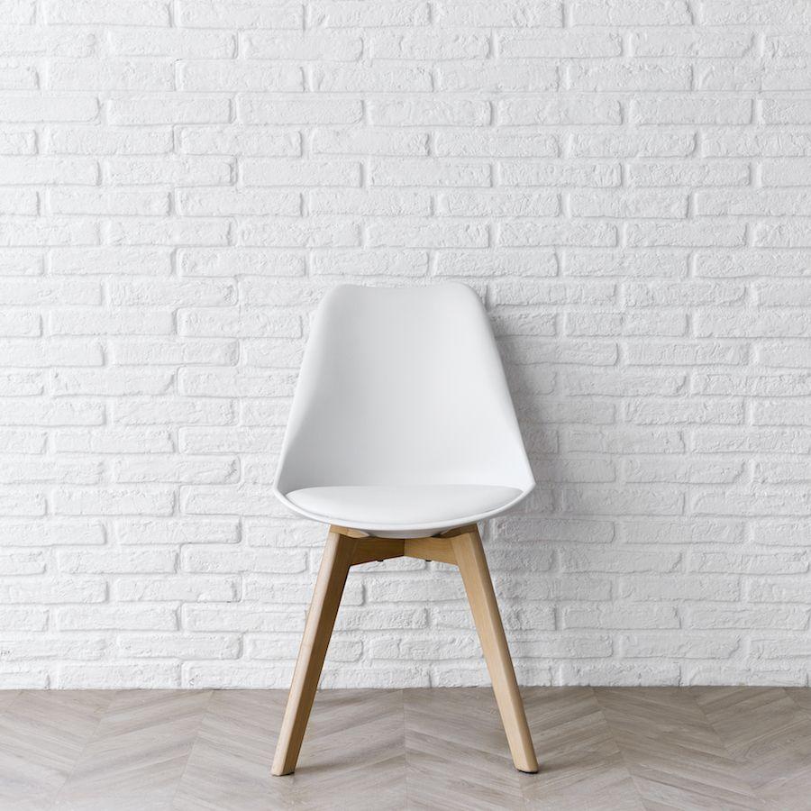 Scandinavian cadeira branca