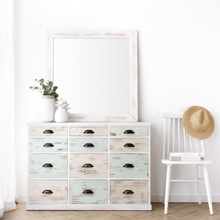 Lise espejo blanco 90X90