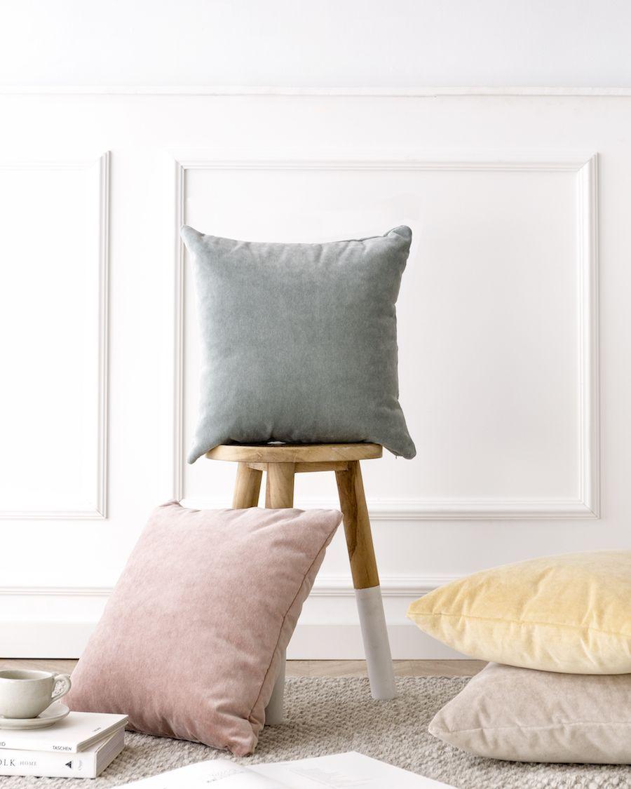 Velvet almofada natural