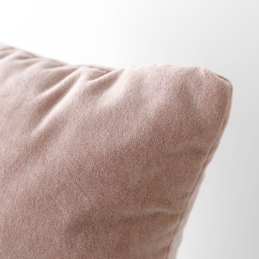 Velvet almofada rosa