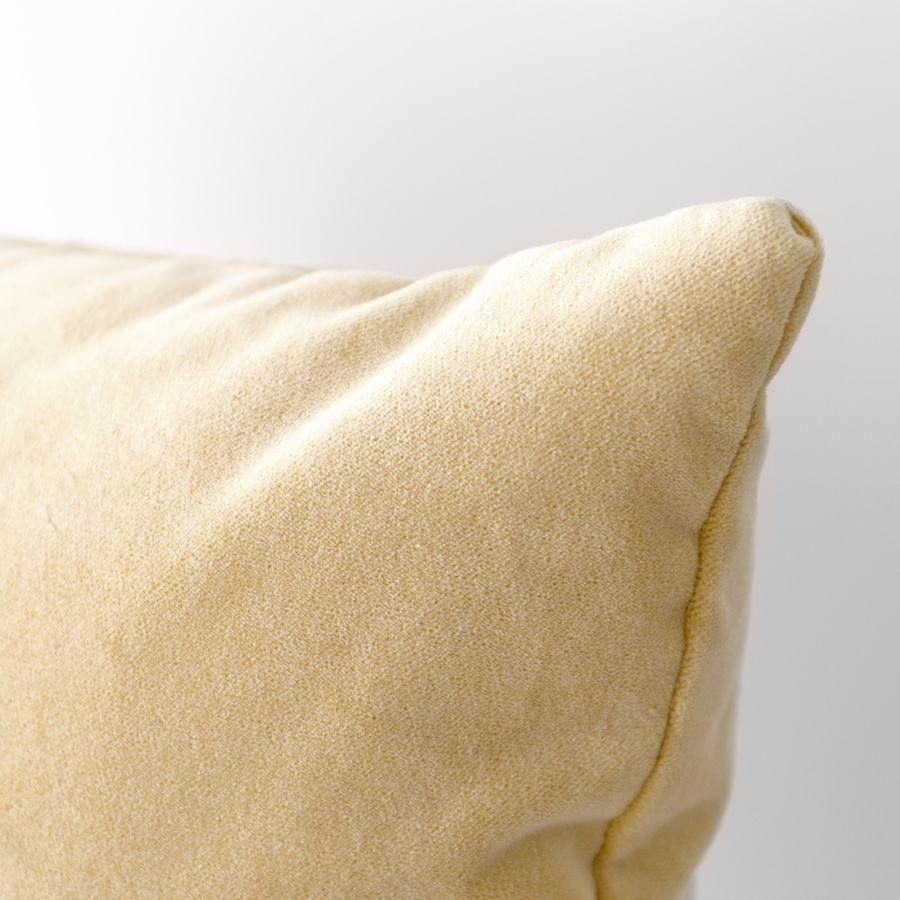 Velvet almofada amarela