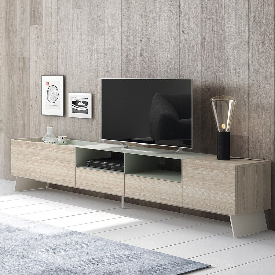 Time mueble TV mint wood