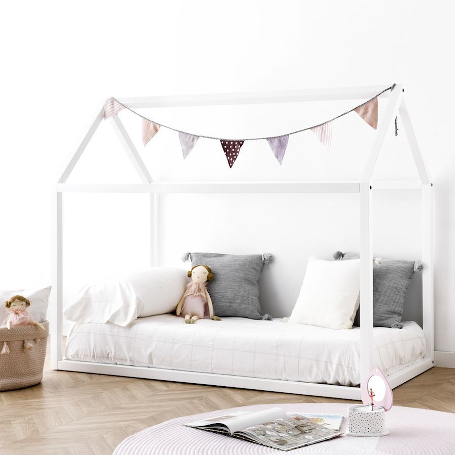 Mini cama casita blanca