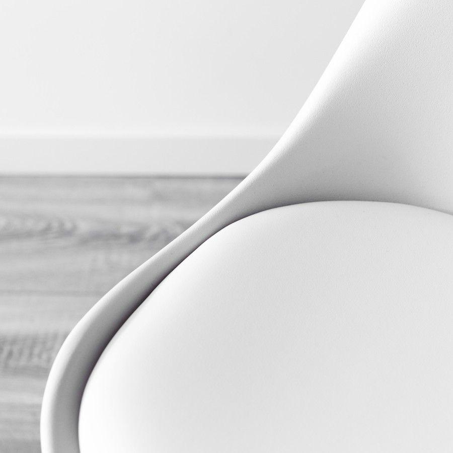 Rass silla blanca c/patas metal