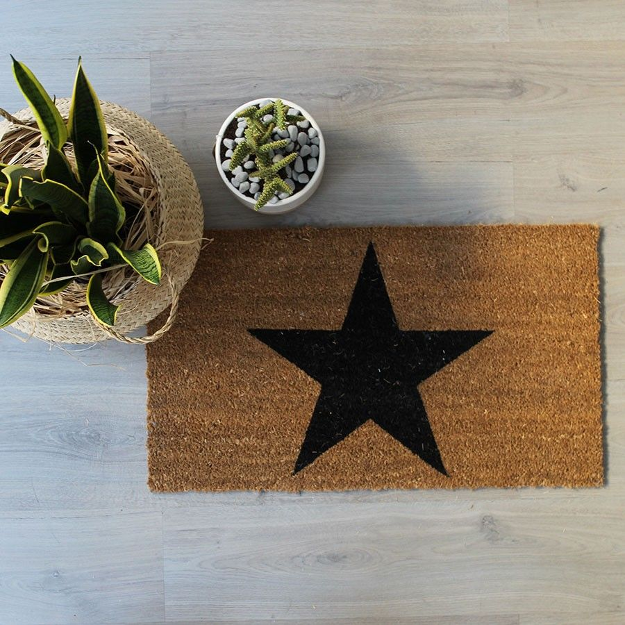 Black star tapete