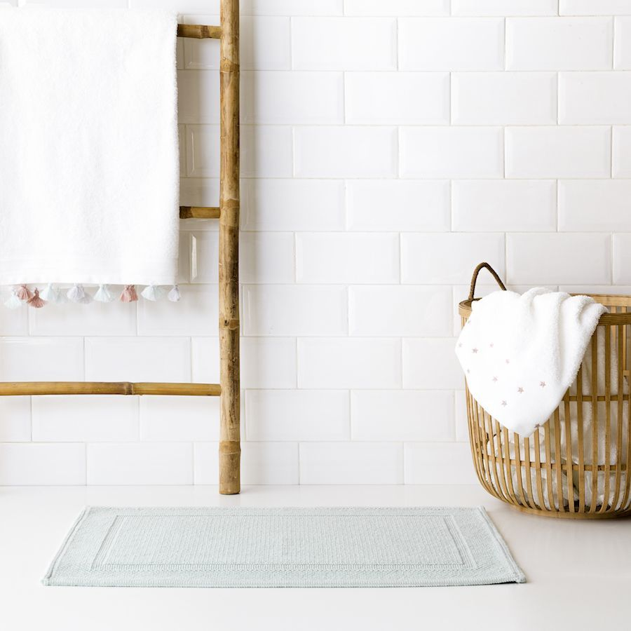 Tapete de casa de banho Basic menta