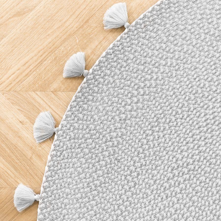 Circle tapete cinzento 120x120