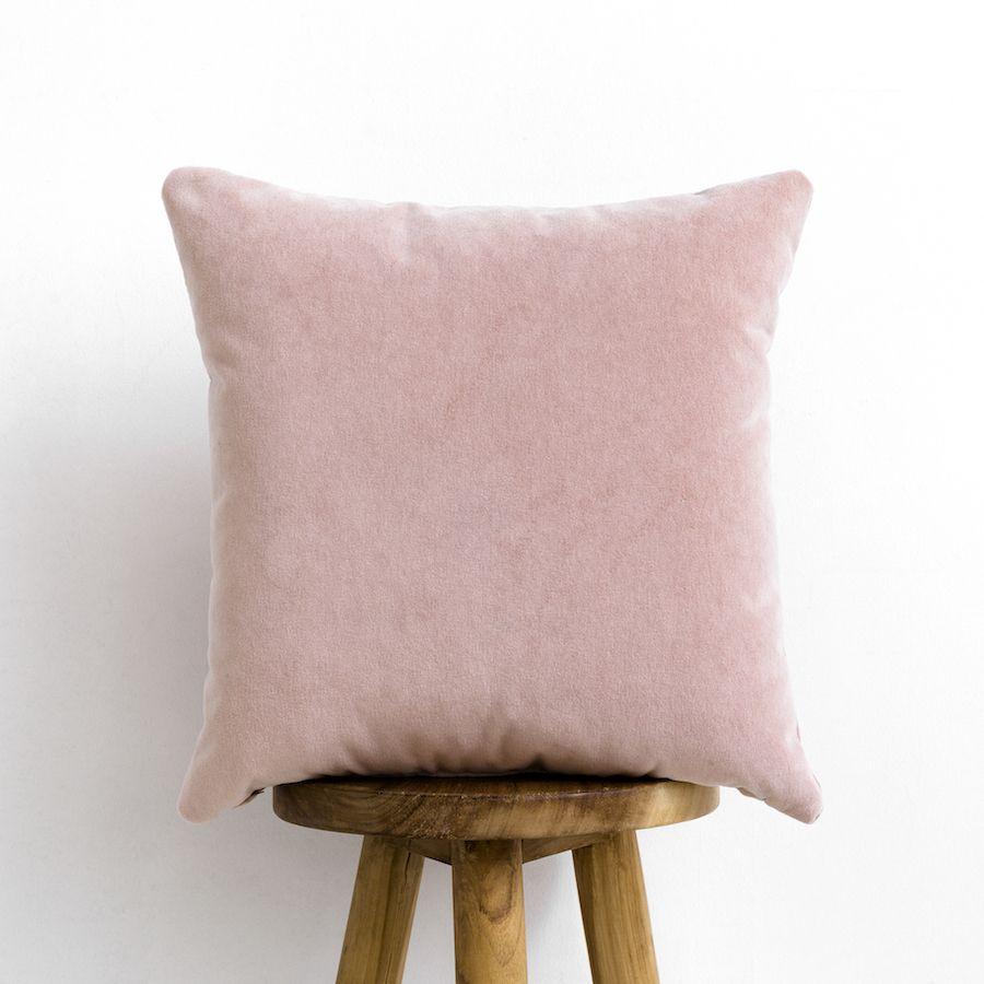 Velvet almofada rosa blush