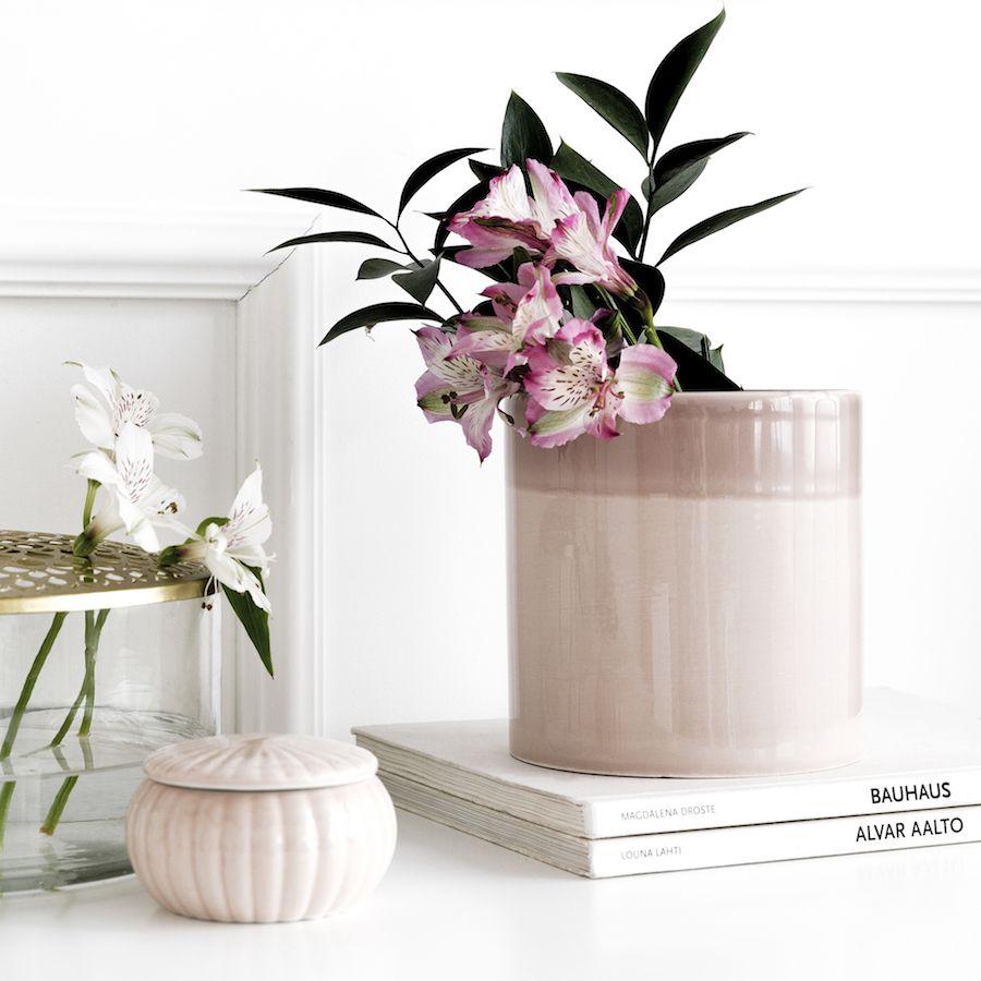 Duo jarrão rosa