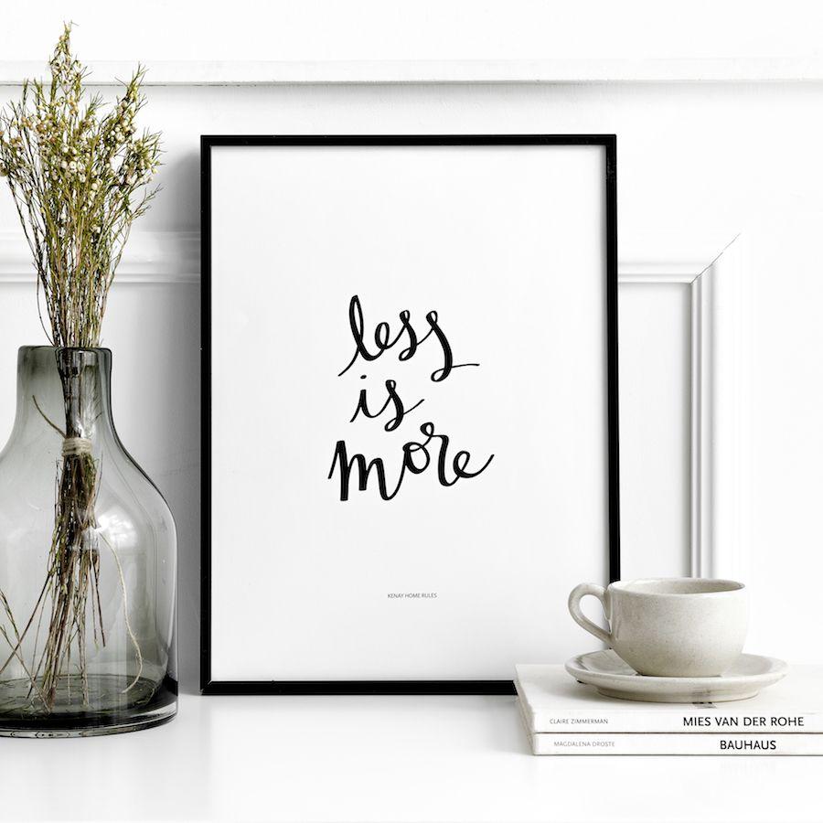 Less is more lamina blanco y negro