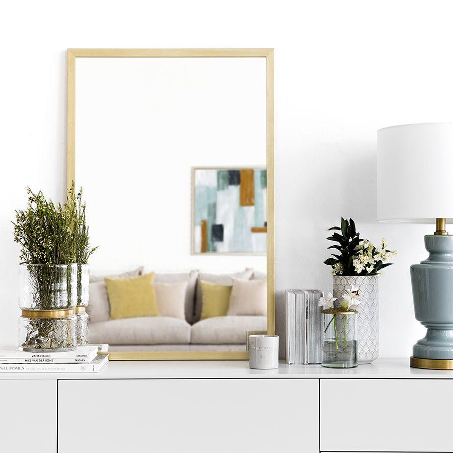 Espelho dourado Gold
