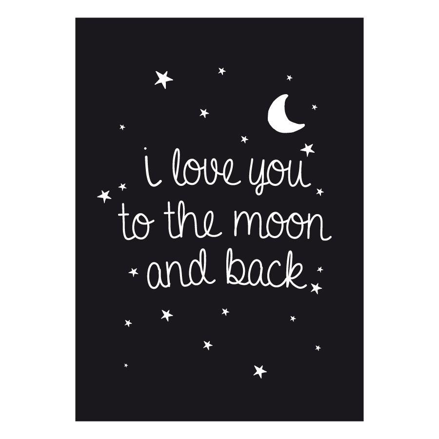 Moon lámina A4