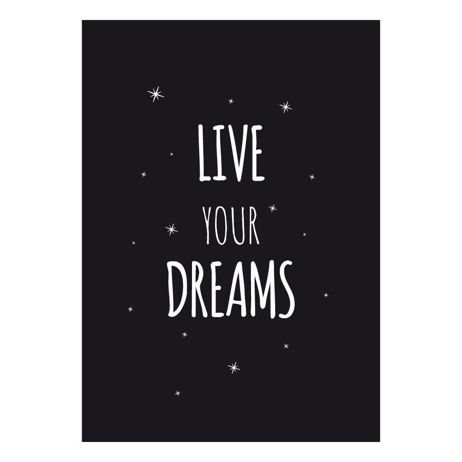 Dreams poster preta A4