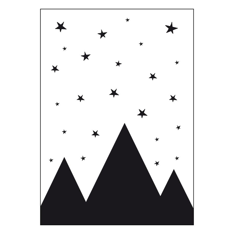 poster A4 Mountain