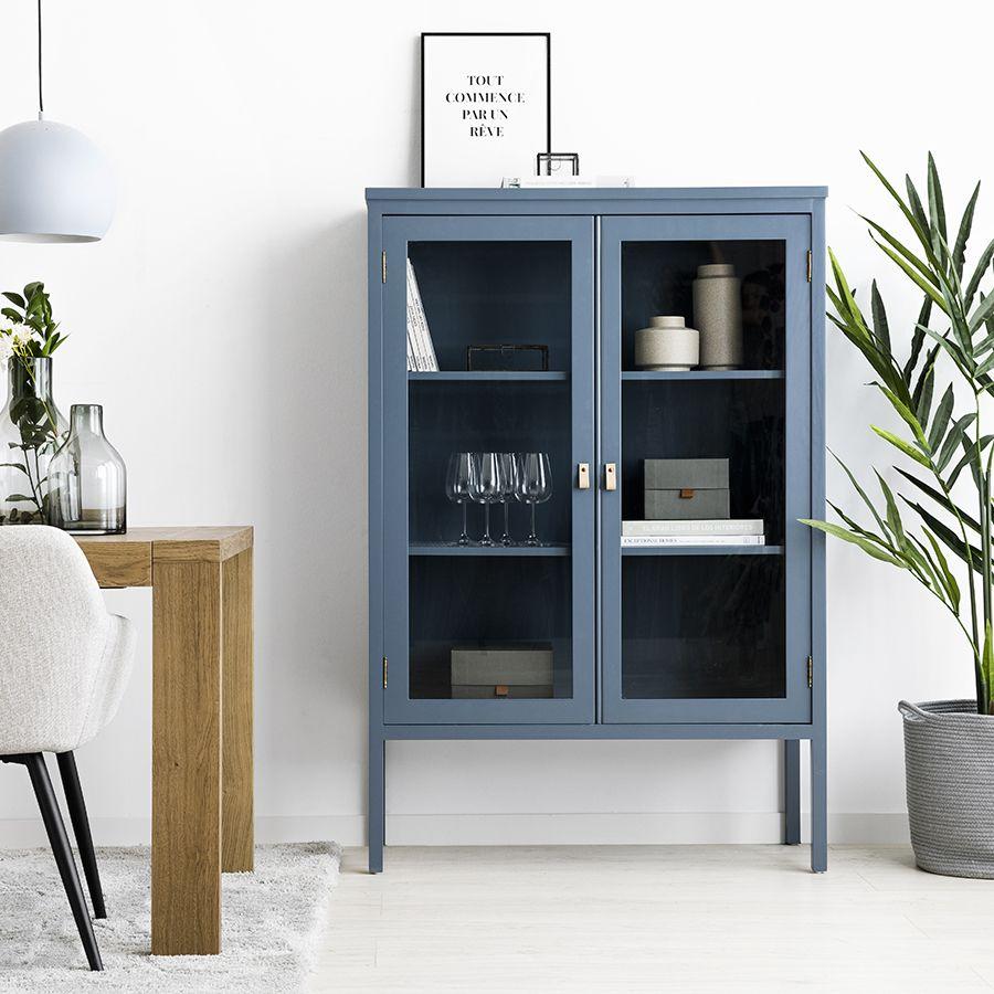 Otto vitrina azul