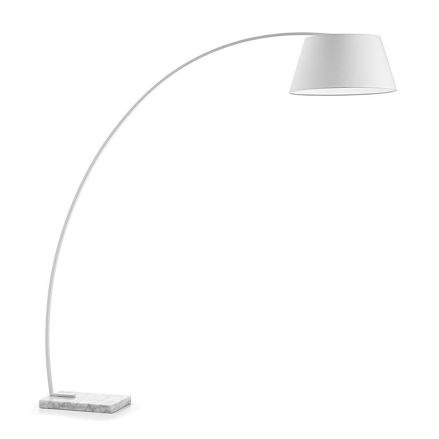 Curve lámpara de pie blanca