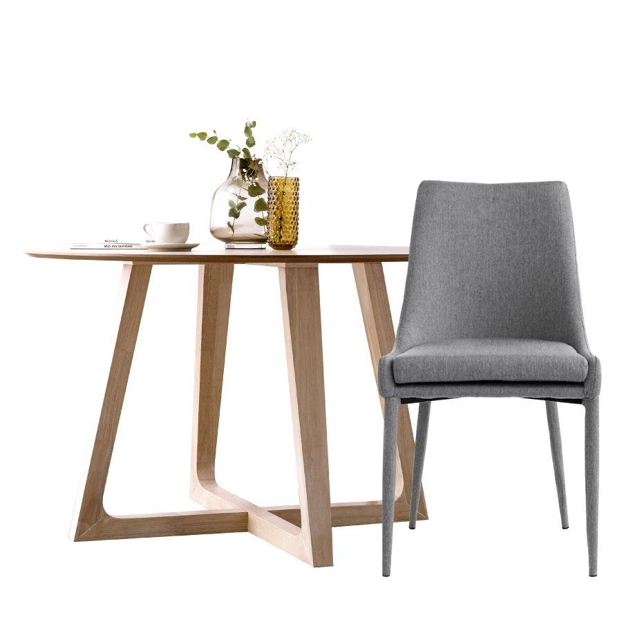 Pack mesa Raw redonda e 4 cadeiras Elle