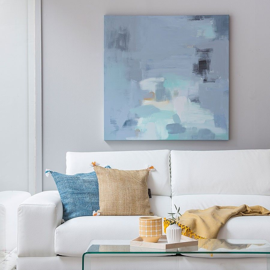 Light blue cuadro 90x90 cm
