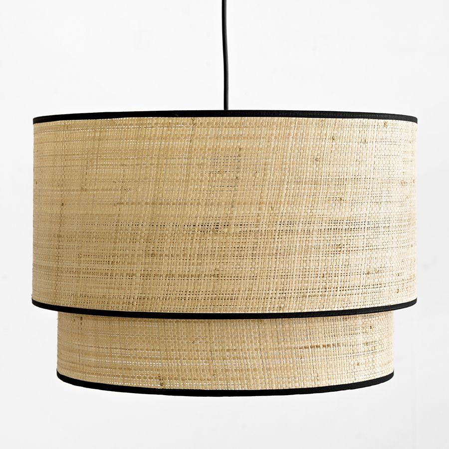 Lombok lámpara de techo doble negra
