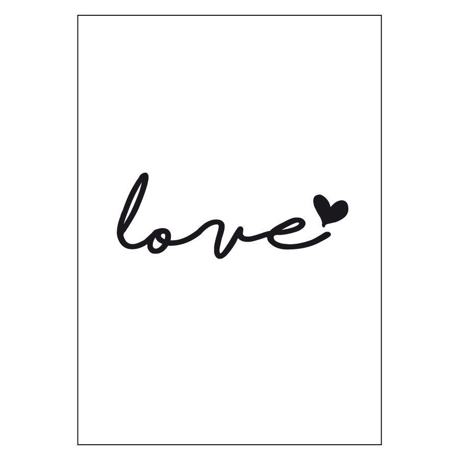 Love lámina A4