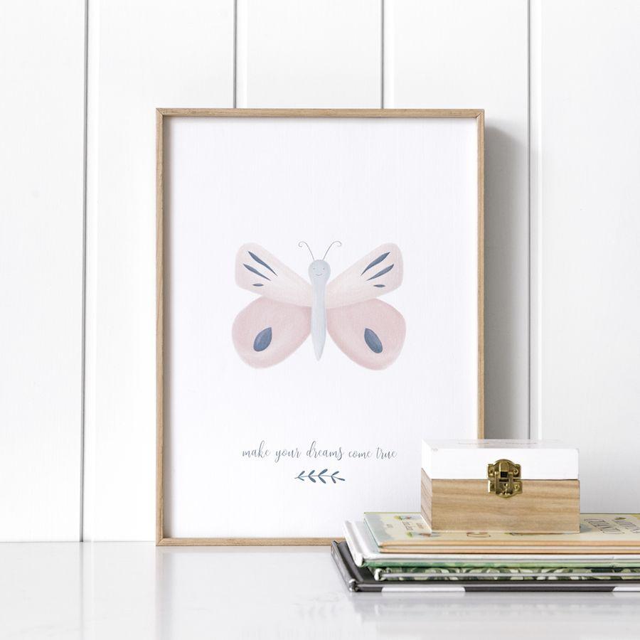 Libby butterfly lámina 30x40 cm