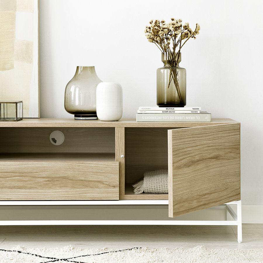 Ellen mueble TV 160 cm con patas mela
