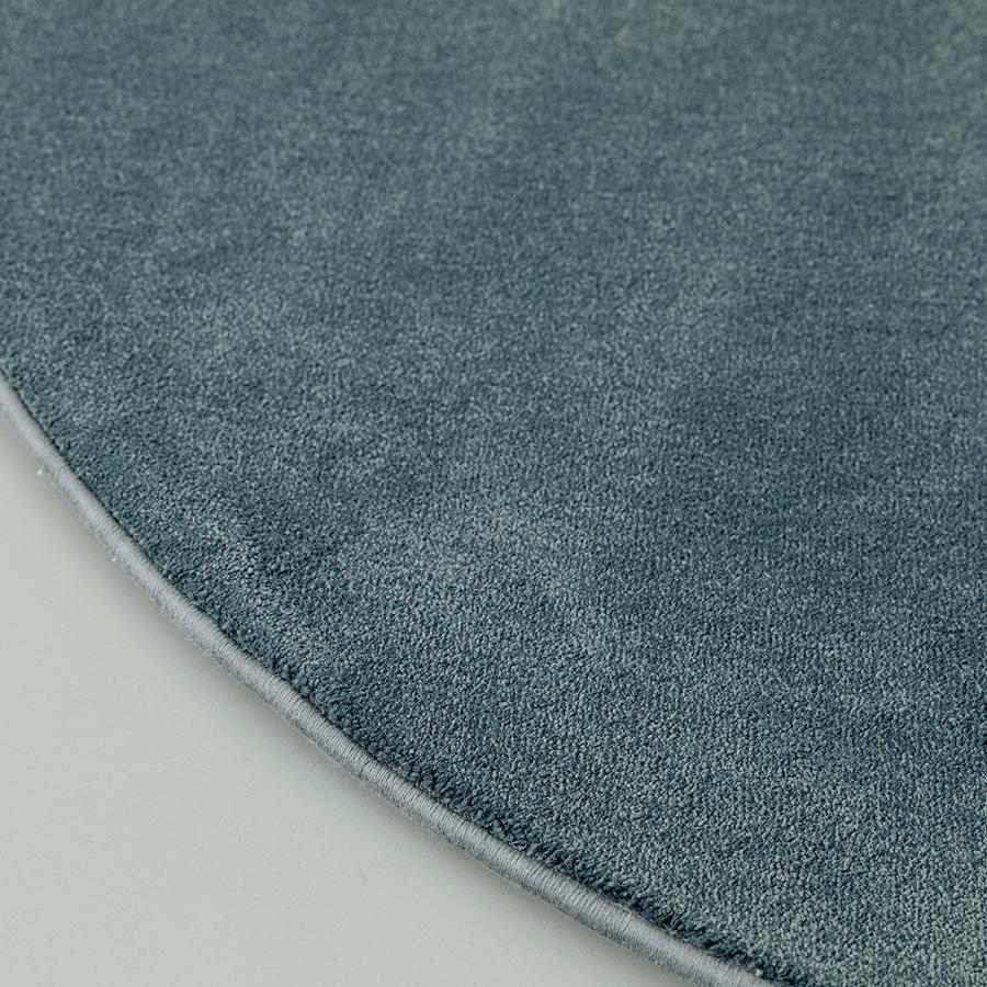 Nima alfombra redonda azul