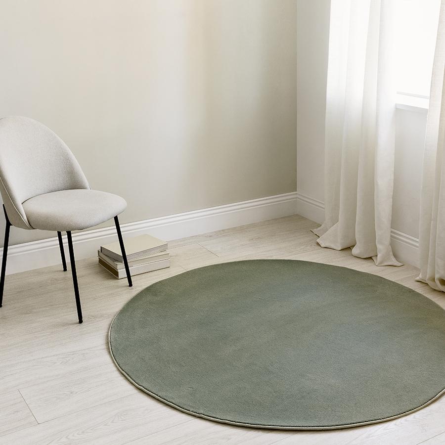 Nima alfombra redonda verde