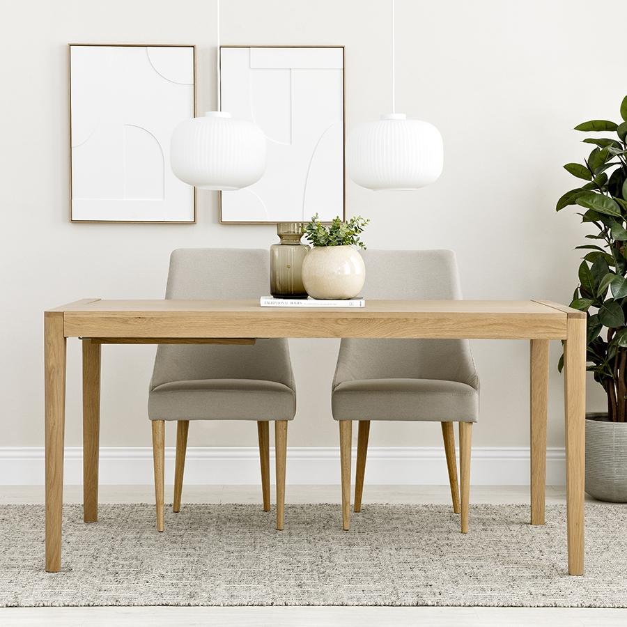 Mesa extensível de carvalho Vinti 160