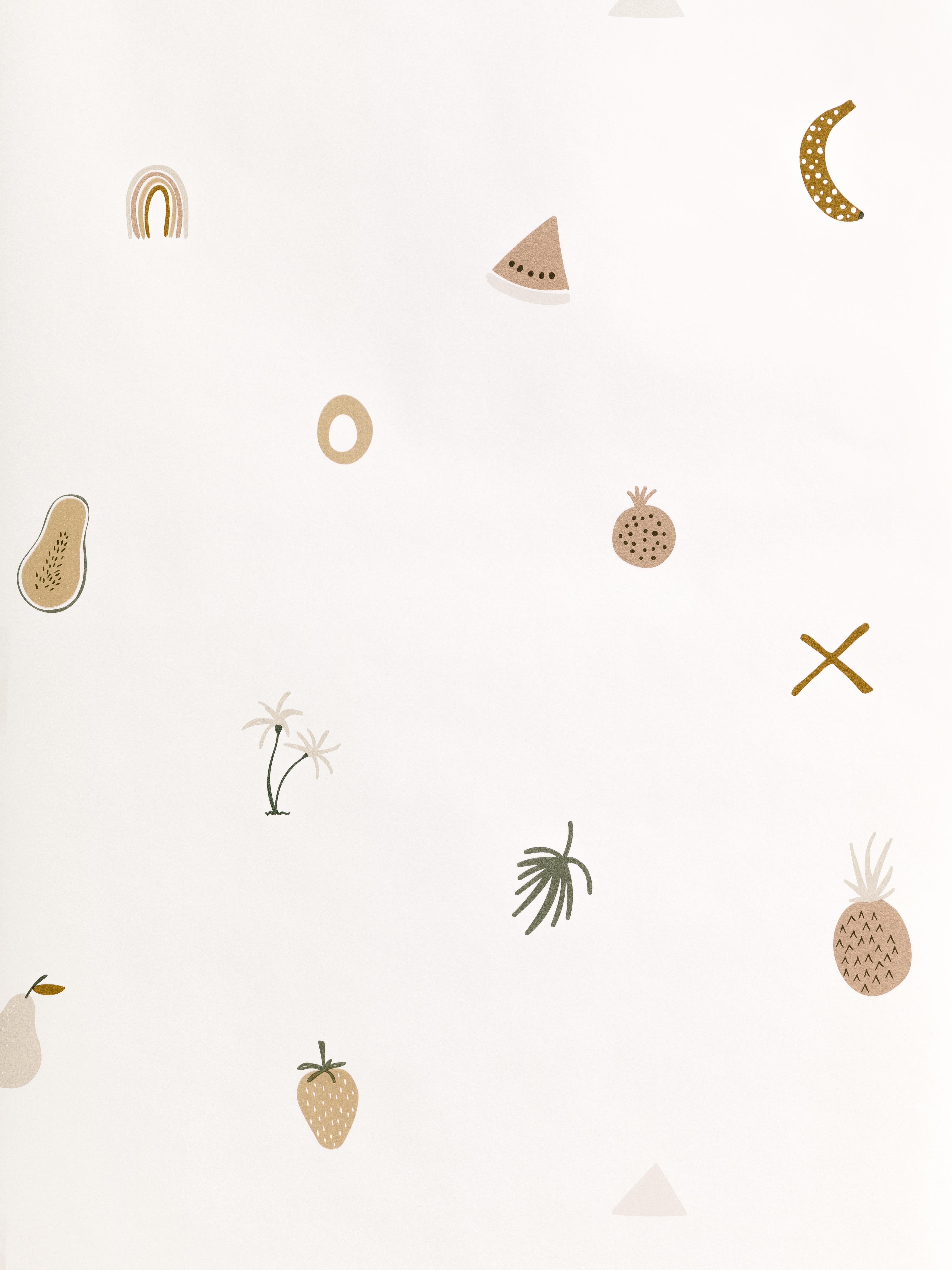 Pastel de papel de parede frutado