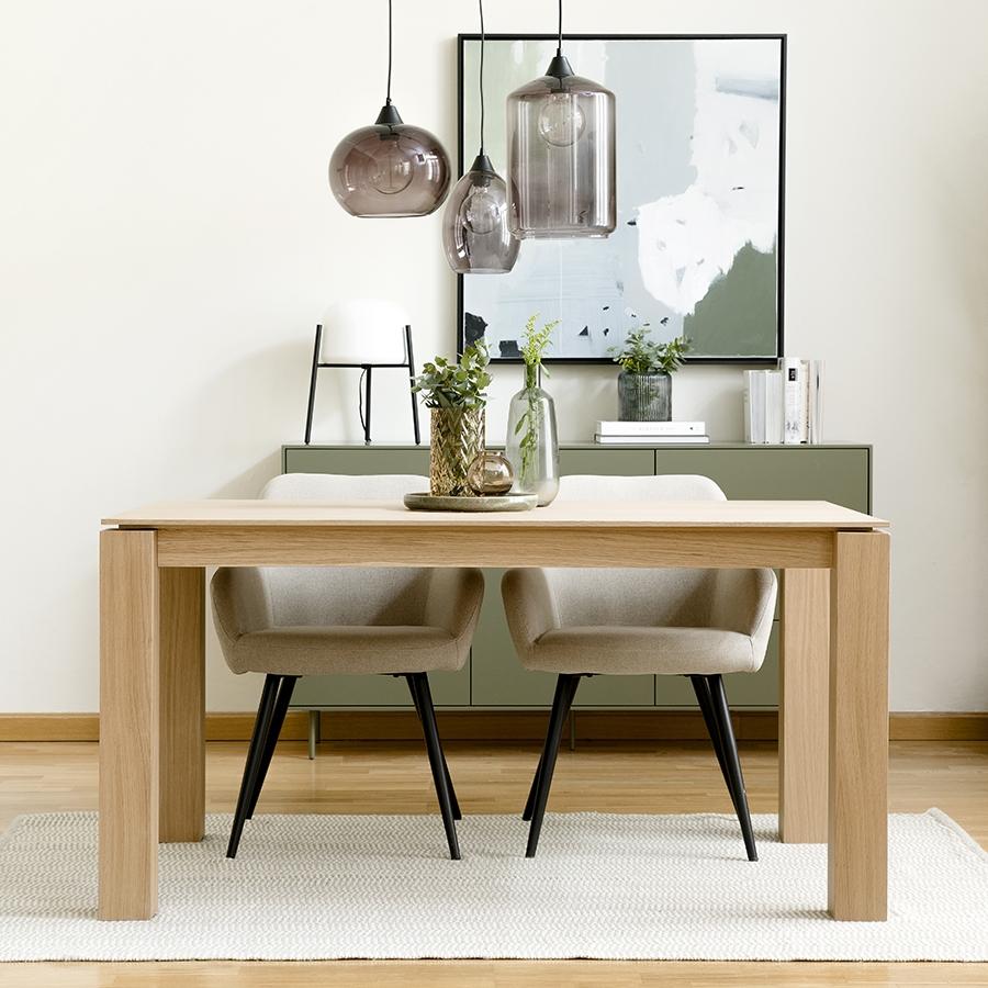 Gone mesa de sala de jantar carvalho cinzento