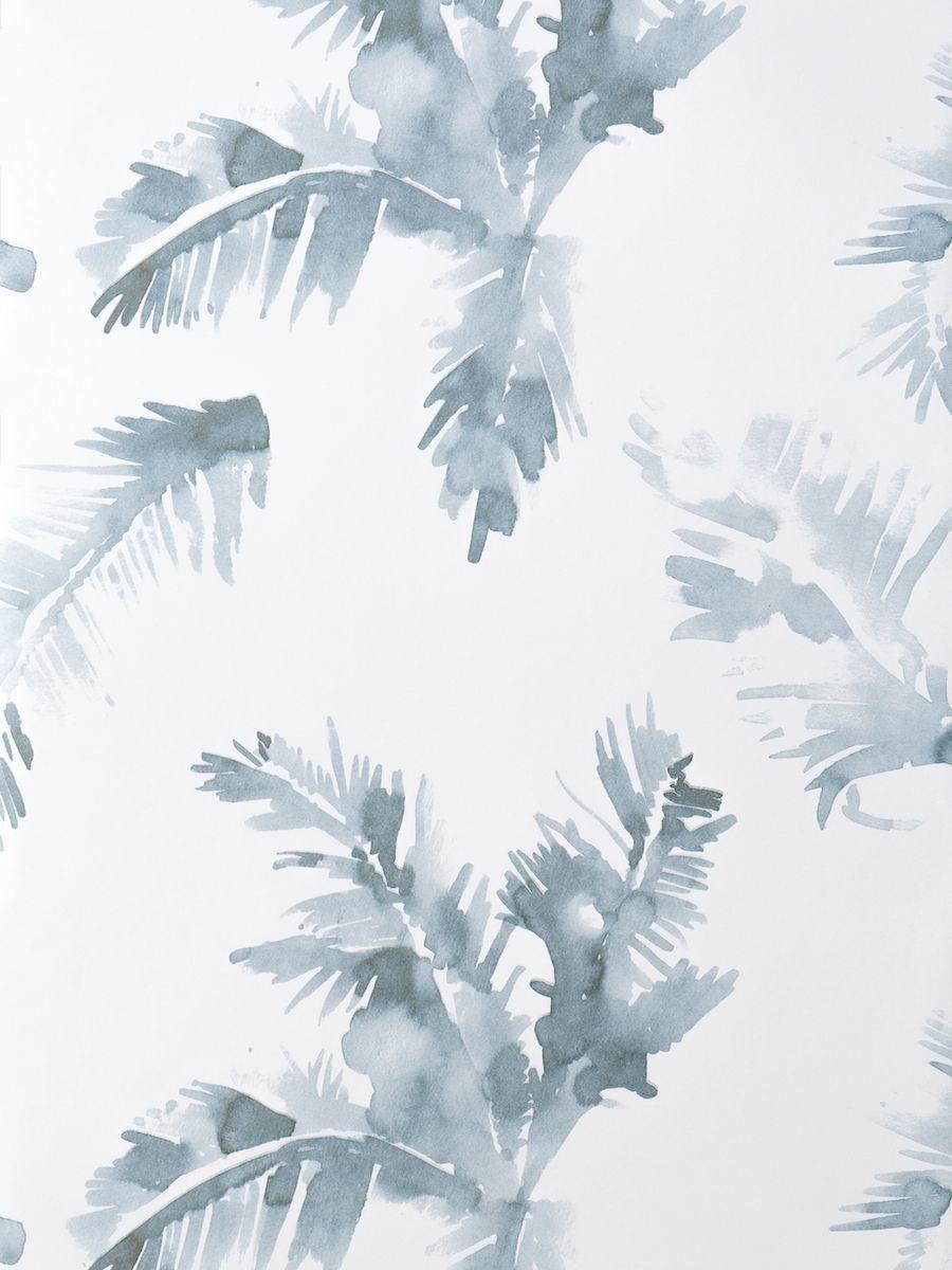 Palmeras blue wallpaper