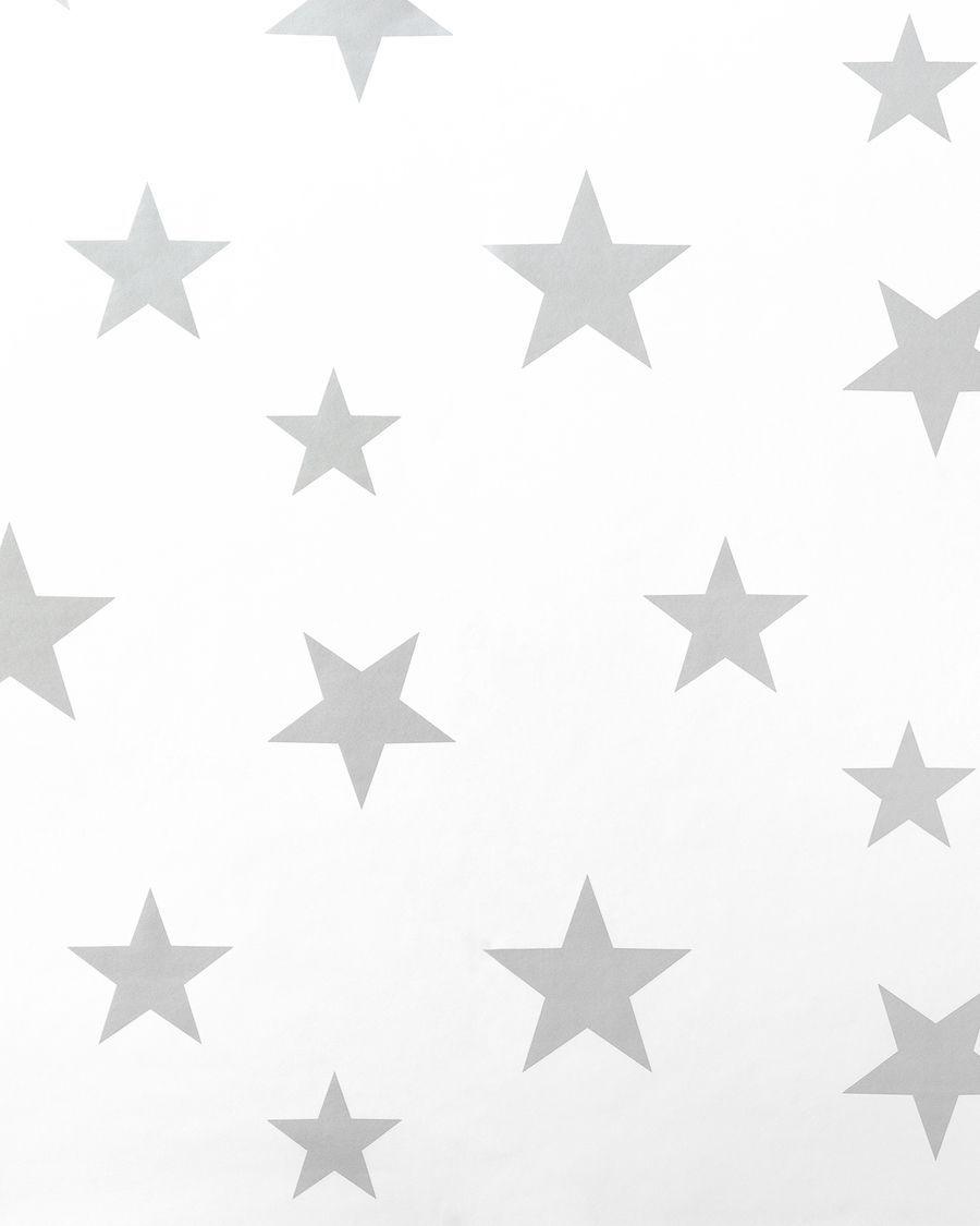 Stars wallpaper grigio/bianco