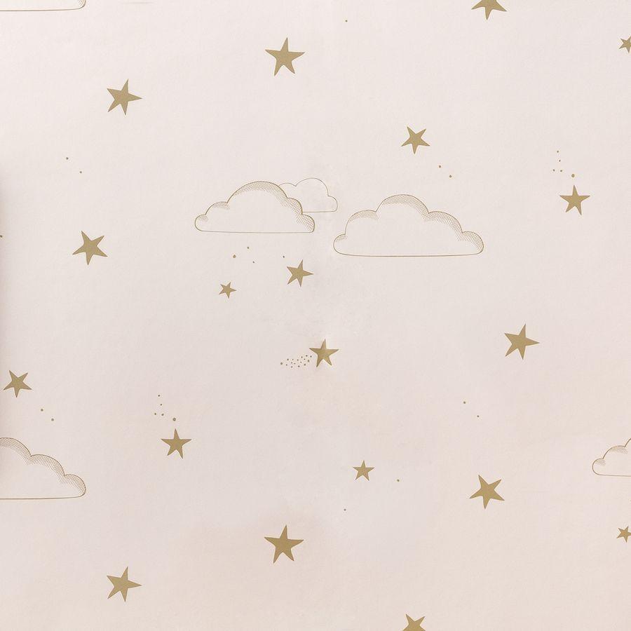 Sky wallpaper rosa/oro