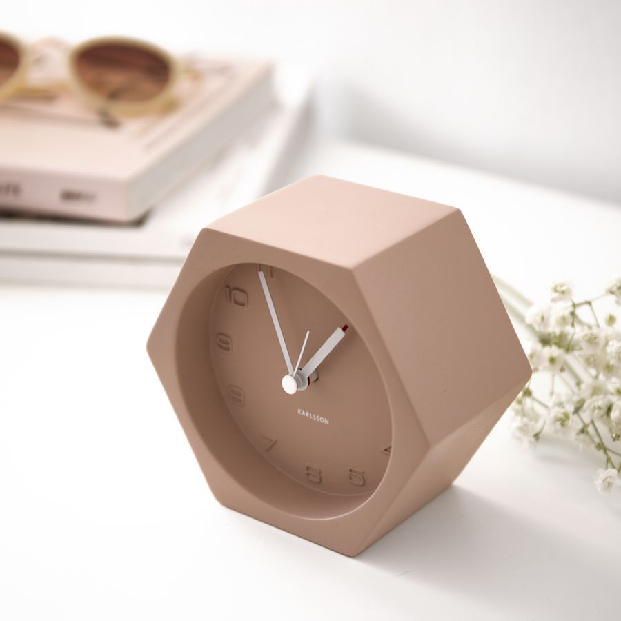 Hexagon orologio rosa
