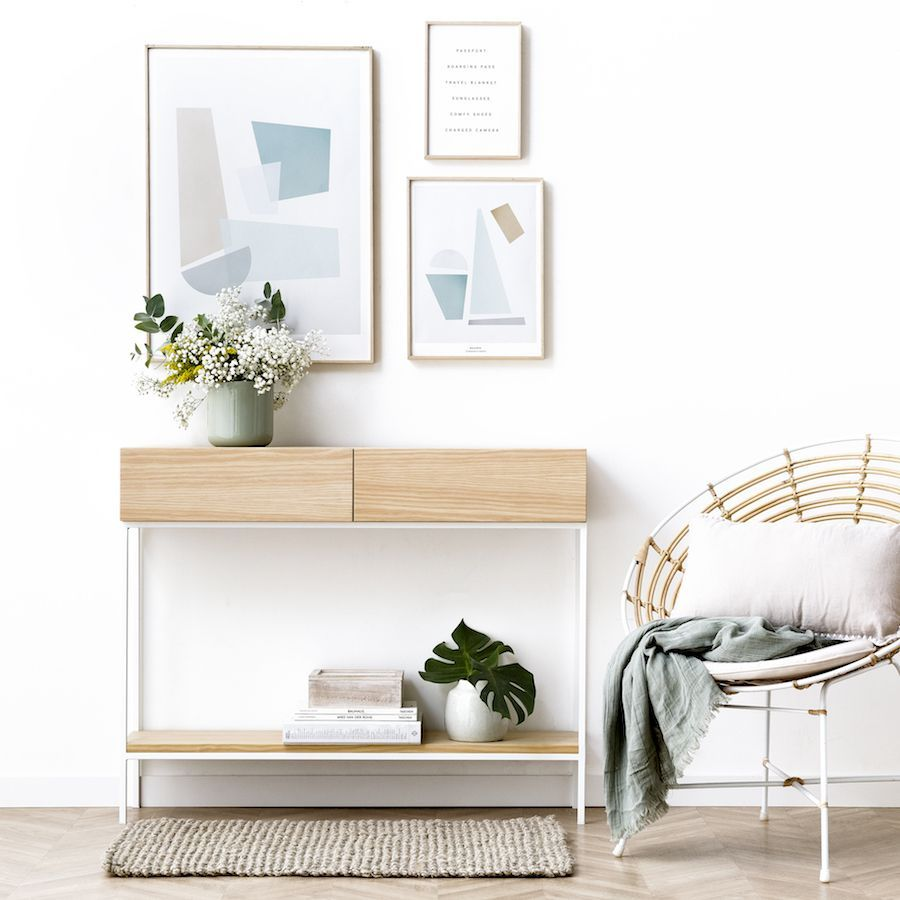 Indo consola blanca/natural