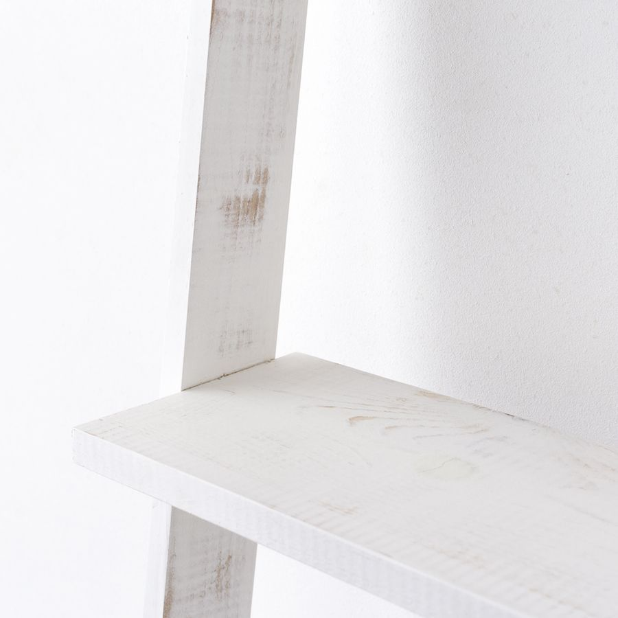 Nussa scaffale scala bianco decapato
