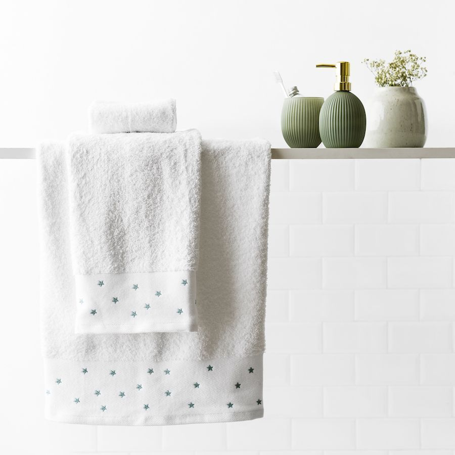 Stars set di asciugamani menta