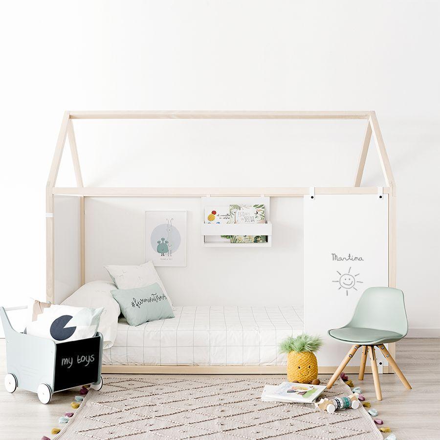 letto casetta con lavagna