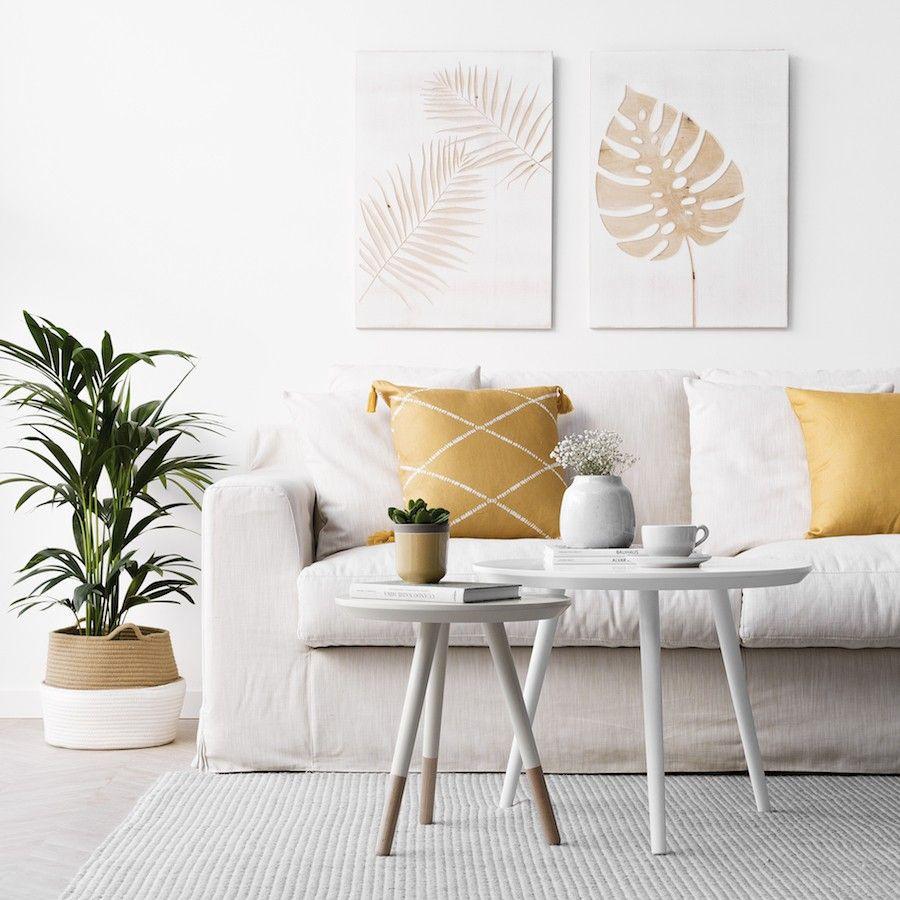 Nord tavolino 40 cm beige - naturale