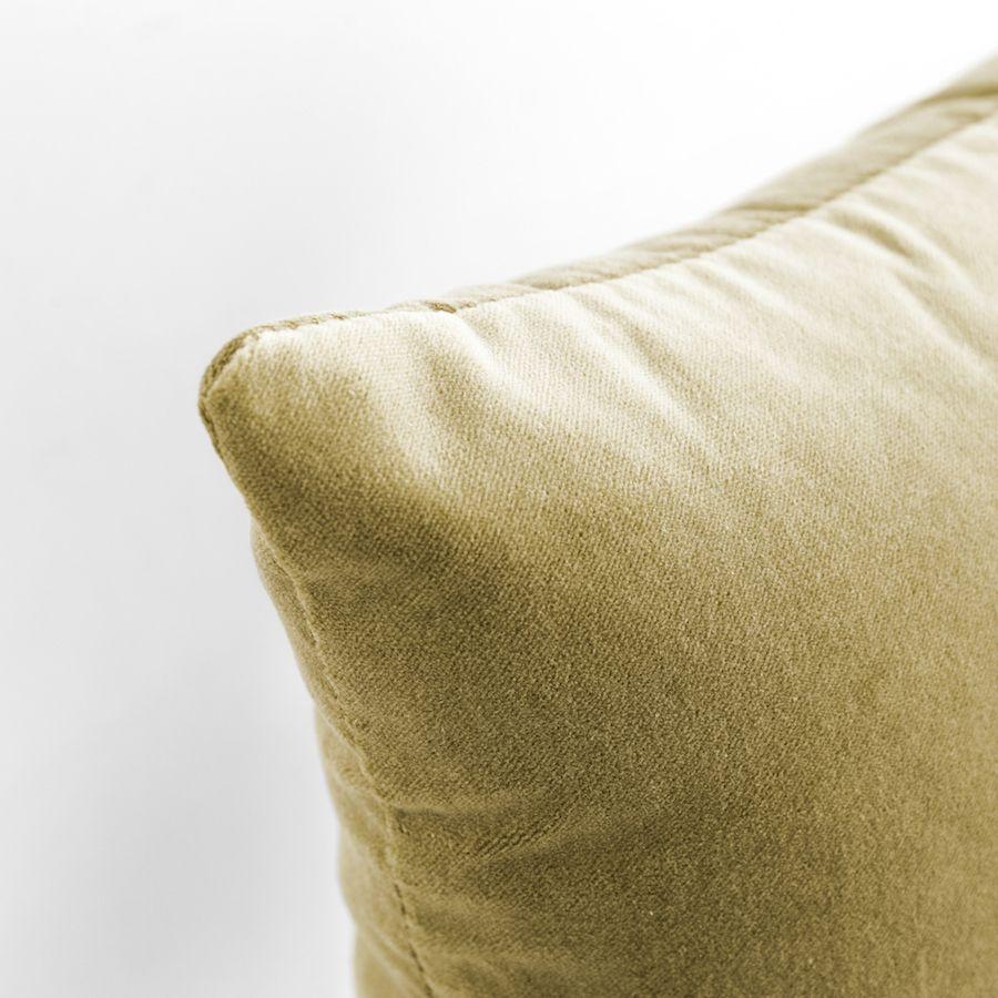 Velvet cuscino senape 50x50