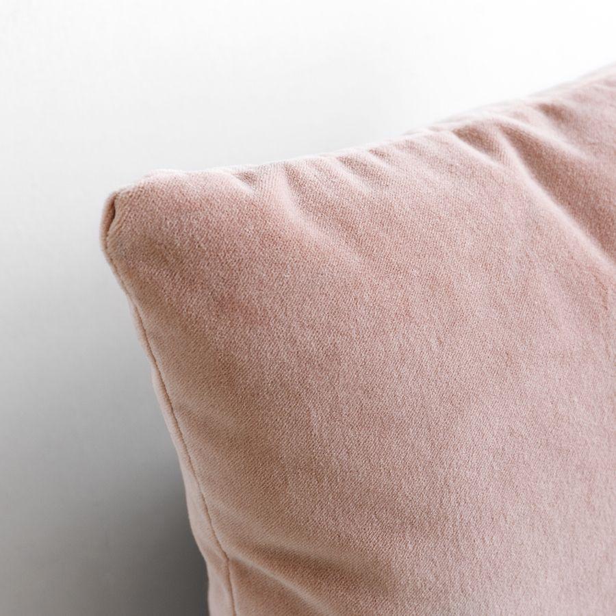 Velvet cuscino rosa blush