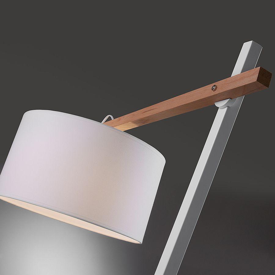 Angul lámpara de pie blanca