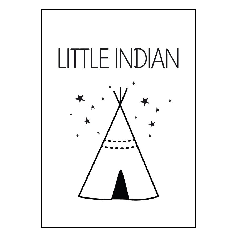 Little indian stampa A4